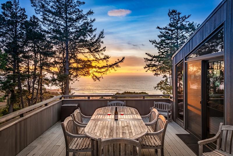 Back Deck at Sunset
