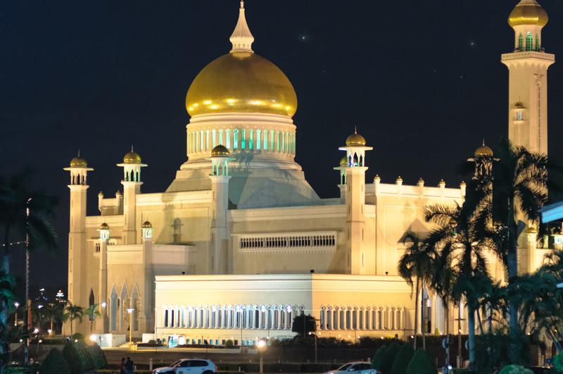 Die Moschee in der Stadt.