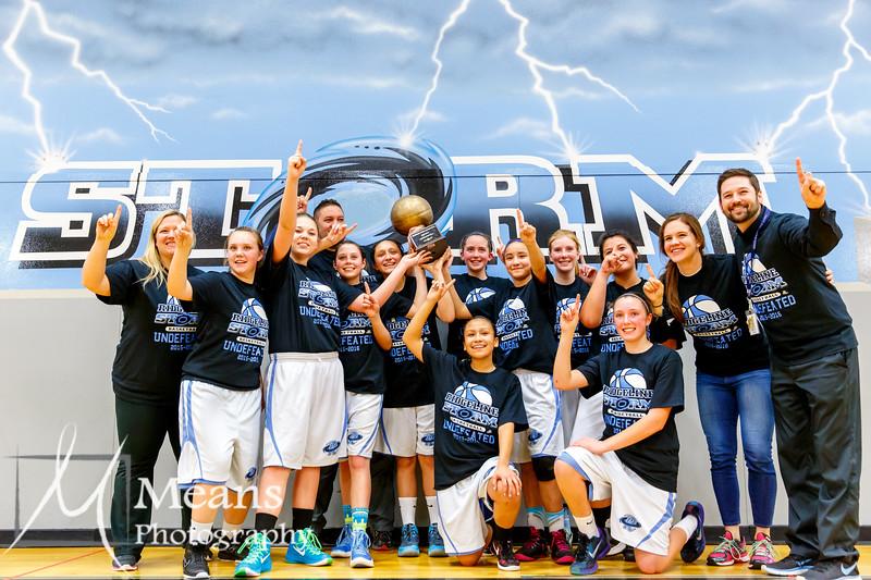 RMS Girls Basketball vs Hudloff 1.28.16