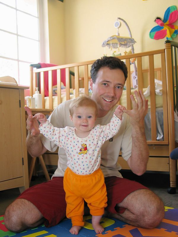 09/25 - Lili learning to pull herself up to a standing position