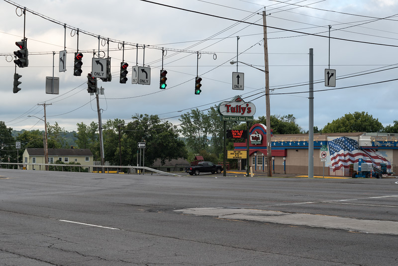 Intersection - Liverpool, New York, USA - August 12, 2015