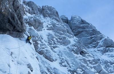 02 09 Winter attempt in Trojka, Grintovec