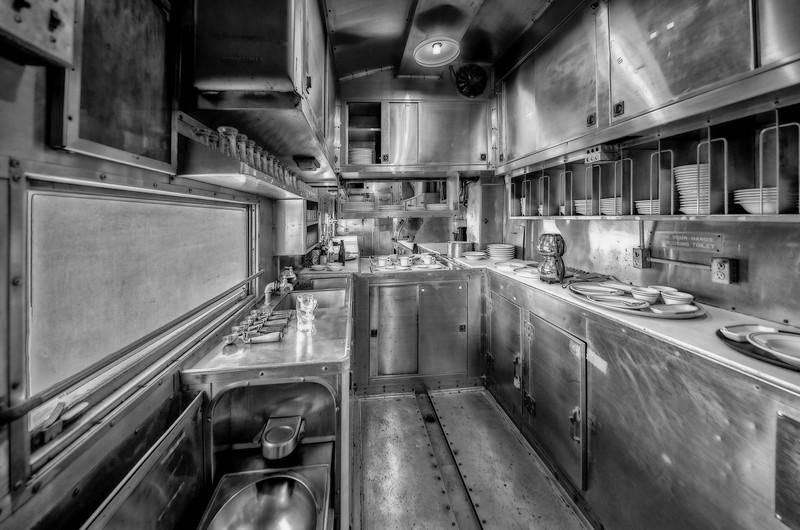 Old Train car Kitchen