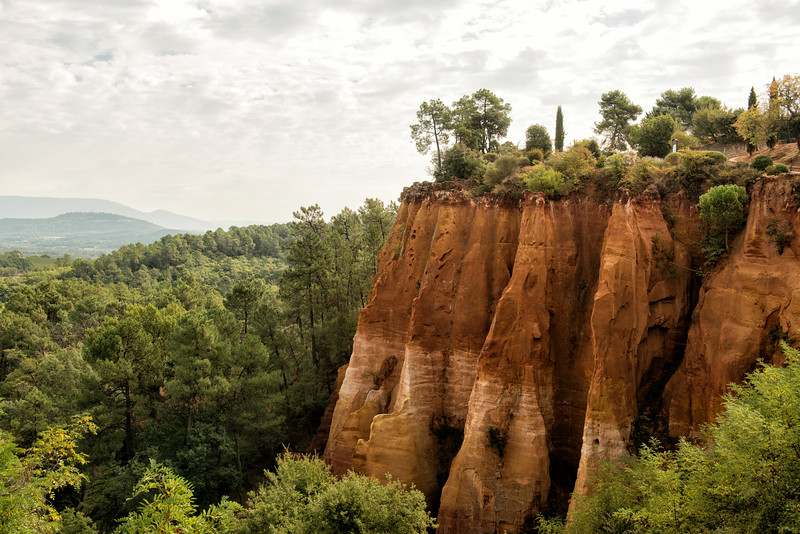 Ocre cliffs at Roussillon