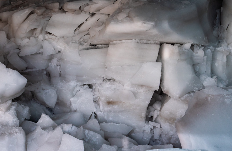 Millions of pounds of ice lay above, you'd crack too