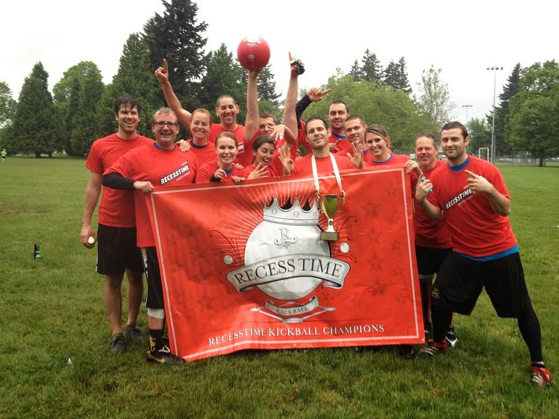 Recesstime Portland Kickball Dodgeball Bowling Ping Pong Mushball - 497