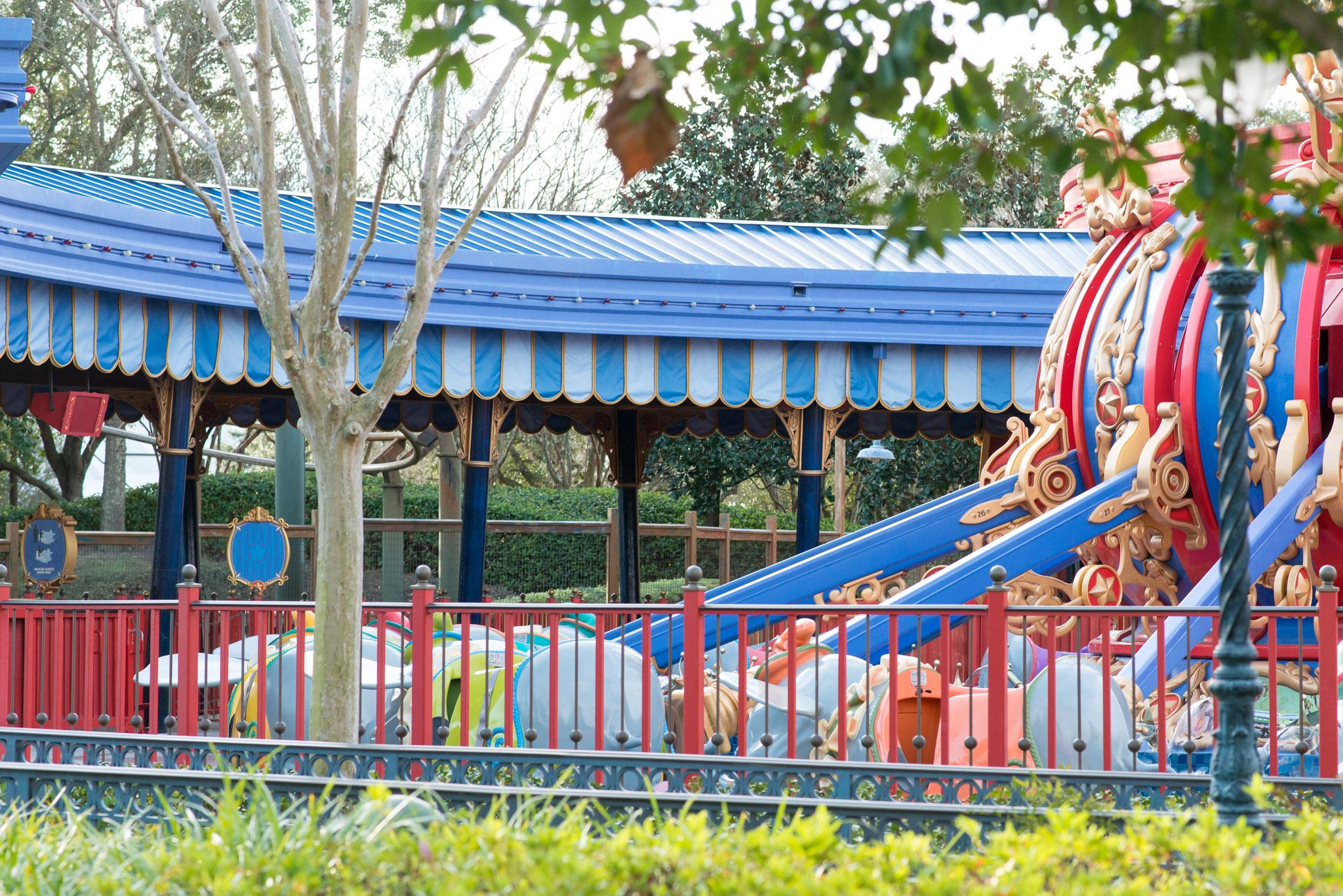 Dumbo Spinner Closed - Walt Disney World Magic Kingdom