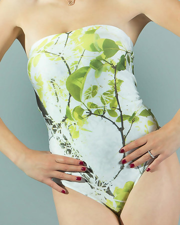 Oroville Tree Strapless Swimsuit