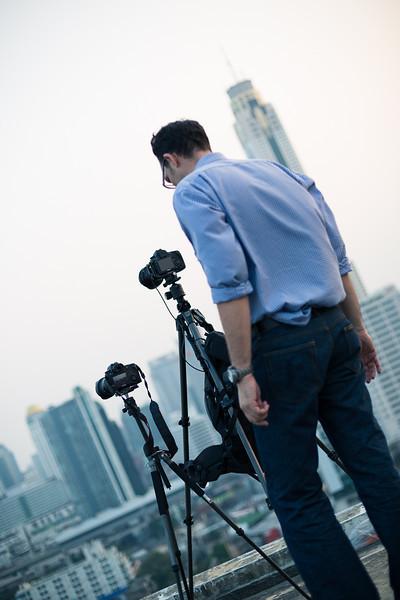 Igor watches carefully his camera near the border :)