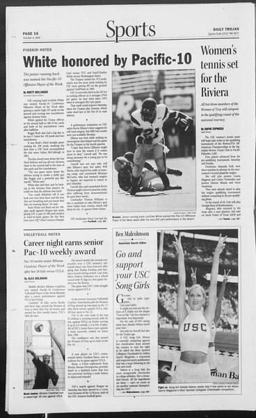 Daily Trojan, Vol. 156, No. 30, October 04, 2005