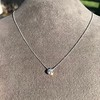 0.67ct Transitional Cut Diamond Pendant Clover Setting 9