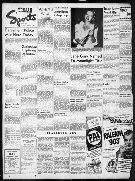 Daily Trojan, Vol. 38, No. 128, May 06, 1947
