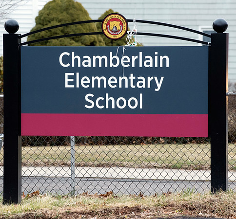 02/25/20 Wesley Bunnell | StaffrrThe sign for Chamberlain Elementary School on Feb 25, 2020.