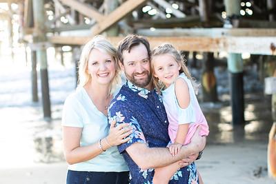Crystal Pier Beach Sunset Family Photos in Fall San Diego - Beiermeister September 2019