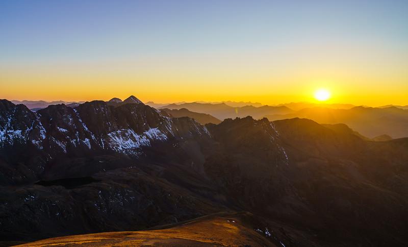 Handies Peak Sunset