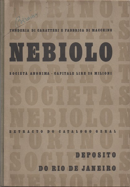 Catalog for the Brasilian market. Nebiolo, 1940s.