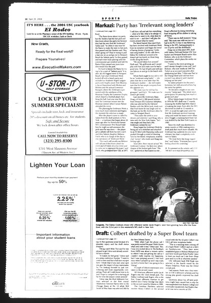 Daily Trojan, Vol. 151, No. 64, April 26, 2004