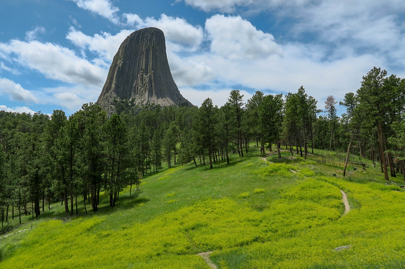 Devils Tower National Monument -- Red Beds Trail & Tower Trail (7-9-19)
