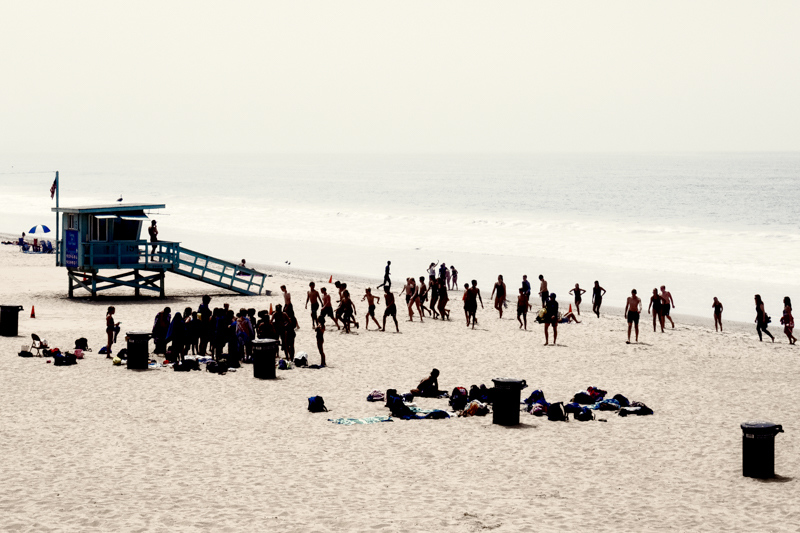 August 7 - Beach camp;, Santa Monica, CA.jpg