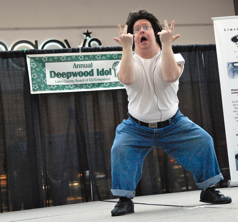 ". Jeff Forman/JForman@News-Herald.com Barry Jarrell performs ""Greased Lightning\"" at the Deepwood Idol Show March 29 at the Great Lakes Mall. The show was presented by the Lake County Board of Developmental Disabilities/Deepwood."