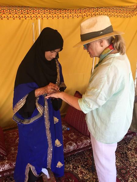 A henna artist in Al Wakrah, Qatar - Bridget St. Clair