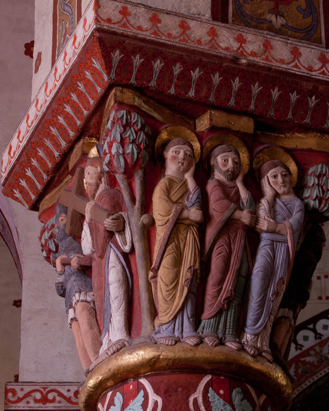 Issoire. Saint-Austremoine Abbey Apostles