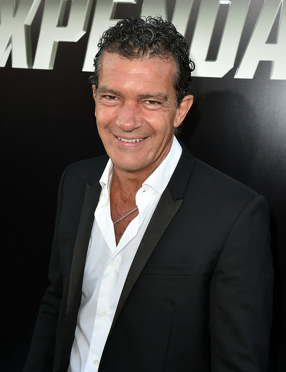 ". Actor Antonio Banderas attends the premiere of Lionsgate Films\' ""The Expendables 3\"" at TCL Chinese Theatre on August 11, 2014 in Hollywood, California.  (Photo by Kevin Winter/Getty Images)"