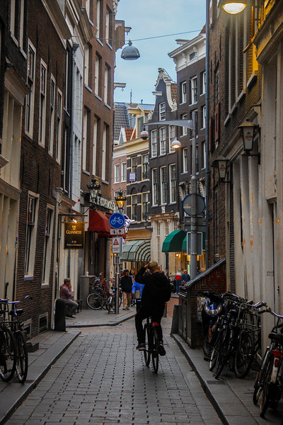 Another tight Amsterdam street.