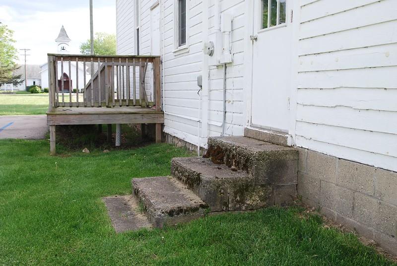 Side entrances to Newberg Township Hall