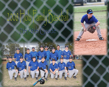 Holy Family 2008 Baseball 7-8th