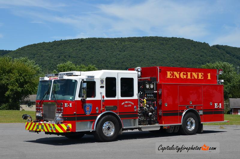 Logan Fire Co., Bellefonte (Centre Co.) Engine 111: 2015 KME Predator 2000/1000/30