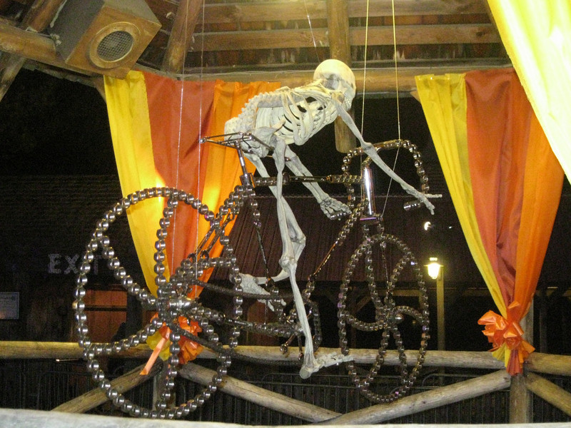 More photos of the skeleton bicycle.