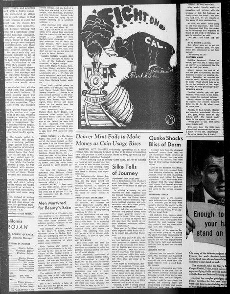 Daily Trojan, Vol. 33, No. 29, October 20, 1941