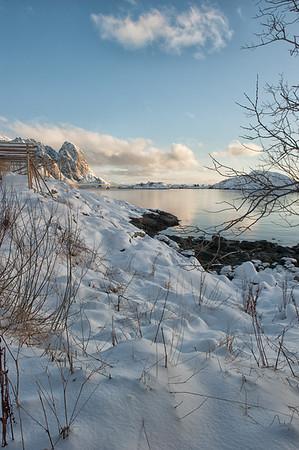 Snow and Empty Stockfish Racks