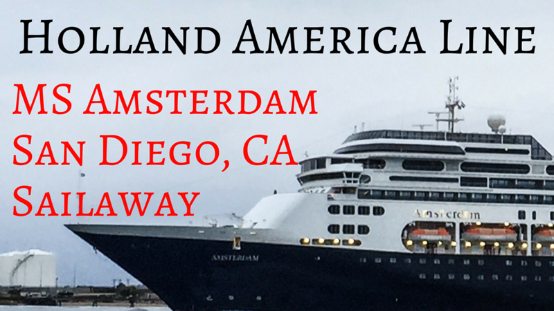 Sailaway video MS Amsterdam from San Diego to Vancouver