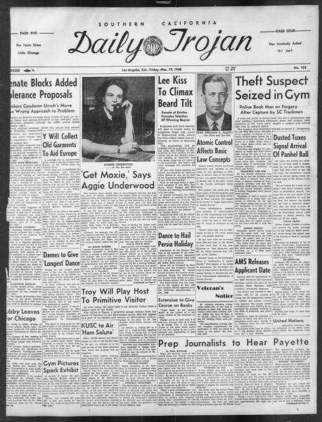 Daily Trojan, Vol. 39, No. 103, March 19, 1948