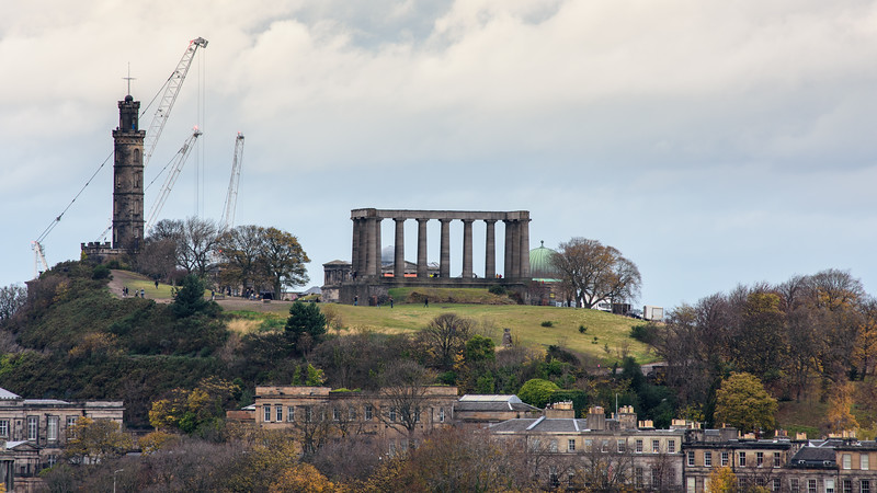 Calton Hill park in Edinburgh
