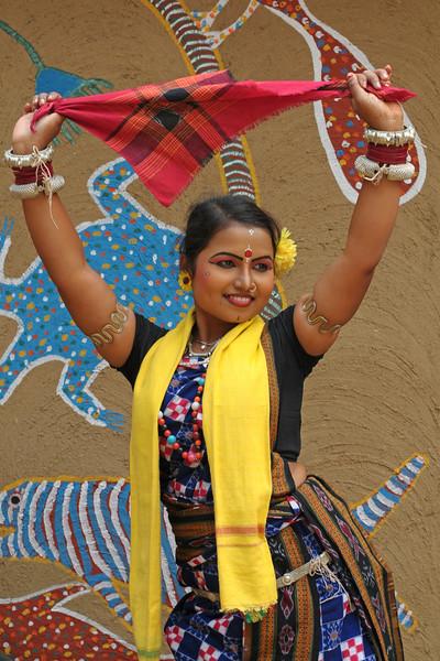 Sarita Mohanti, from Orissa performed the Sambhalpuri dance. Artists at the Surajkund Crafts Mela 2009, Haryana, North India. The Suraj Kund Mela is an annual fair held near Delhi. Folk dances, musical performances, handicrafts on display & sale and and a lot of fun & excitement for everyone.