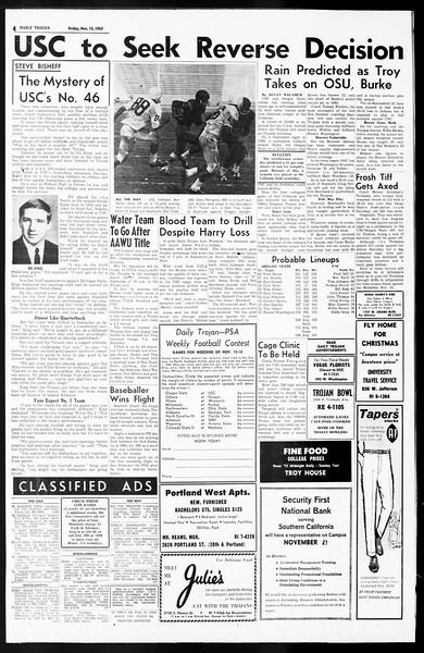 Daily Trojan, Vol. 55, No. 39, November 15, 1963