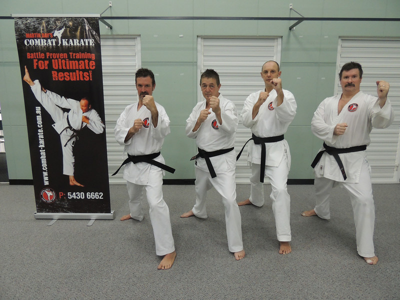 First Combat Karate Noosa Black Belt Grading - All Passed to 1st Dan! WELL DONE Garry, Joe, Nigel & Andy