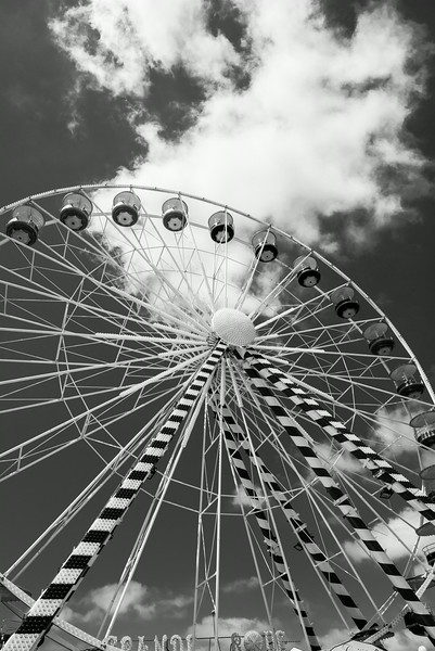 Ferris Wheel near Royan France on the way to Bordeaux