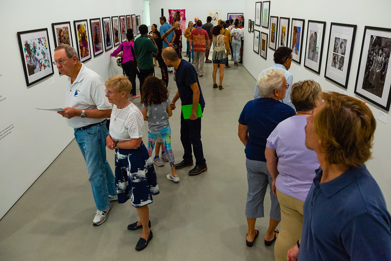 Visitors to the Norton Museum of the Arts  admire artwork on the 2nd floor during the museum's grand opening on Saturday, February 9, 2019. [JOSEPH FORZANO/palmbeachpost.com]