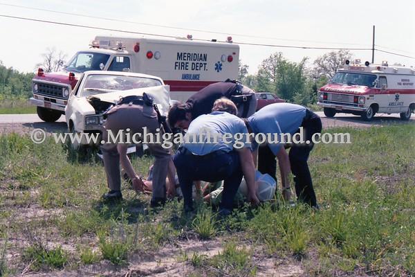 5/20/79 - Meridian Twp injury crash, Grand River & Northview