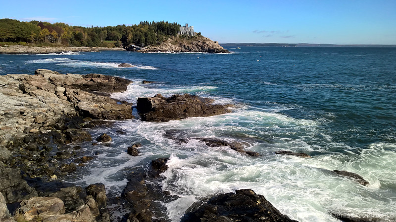 waves crashing on the rocks at Schooner Head, Acadia National Park
