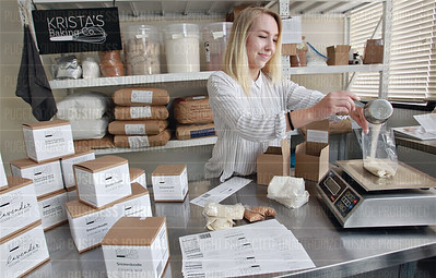 Krista Nelson of Krista's Baking Company uses non-GMO and organic ingredients in her baking kits