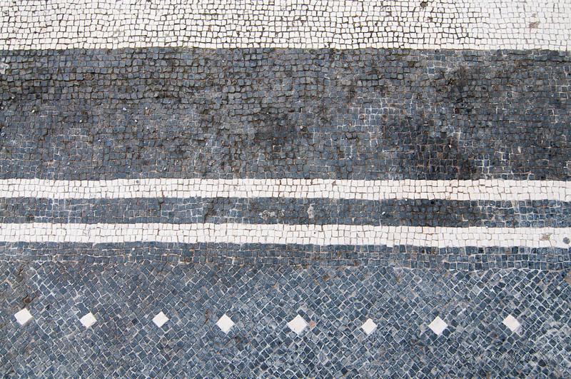 Black and white mosaic at Herculaneum
