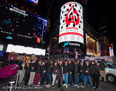 2018-11-10 Hemophilia the Musical Times Square Visit