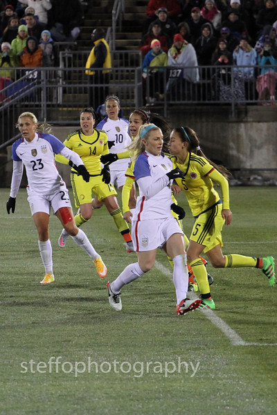 2016 USWNT vs Colombia
