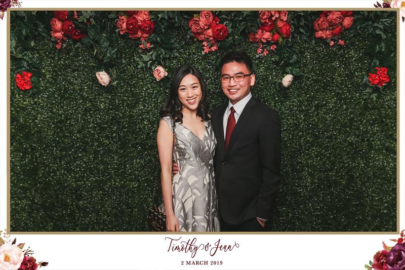 Wedding of Timothy & Jean | © SRSLYPhotobooth.sg