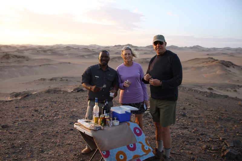 Sundowner drinks with our guide Max